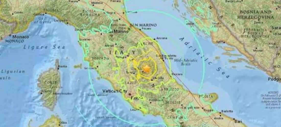 Resultado de imagem para terremoto na italia hoje
